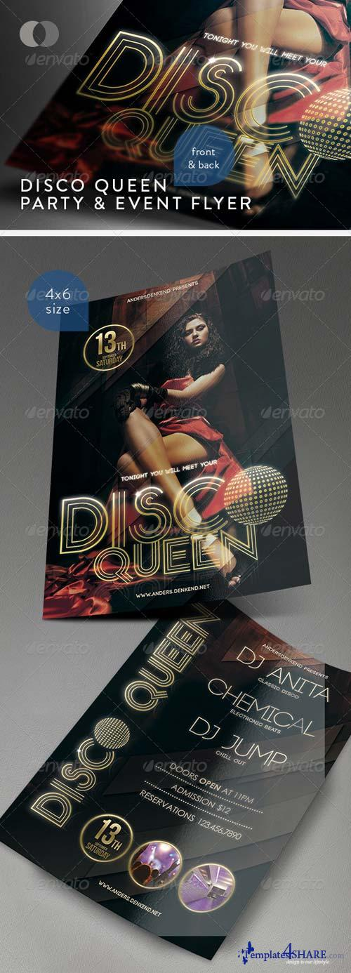 GraphicRiver Music & Event Flyer - Disco Queen