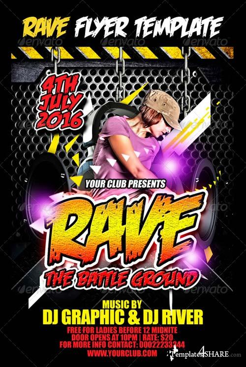 GraphicRiver Rave Flyer Template