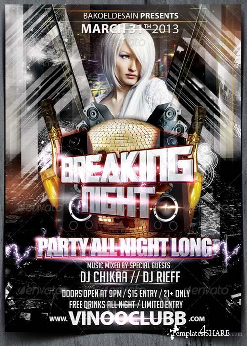 GraphicRiver Breaking Night Party Flyer