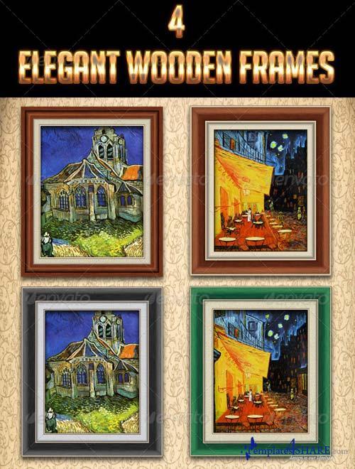 GraphicRiver 4 Elegant Wooden Frames