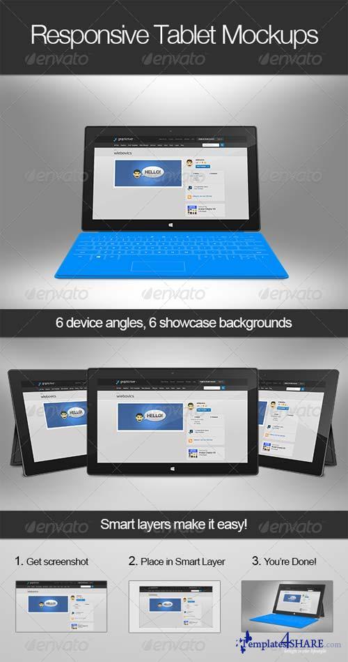 GraphicRiver Responsive Tablet Mockups