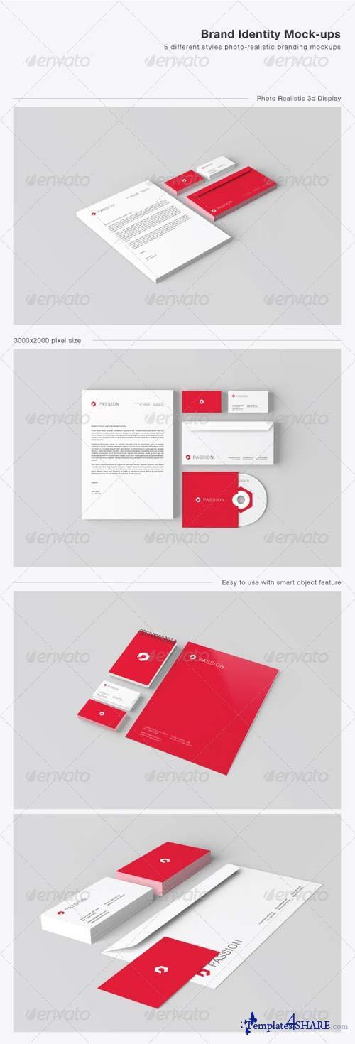 GraphicRiver Stationery / Brand Identity Mock-ups