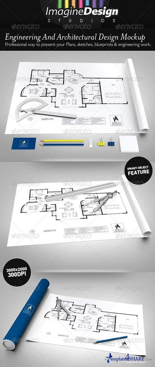 GraphicRiver Engineering / Architectural Design Mock-up