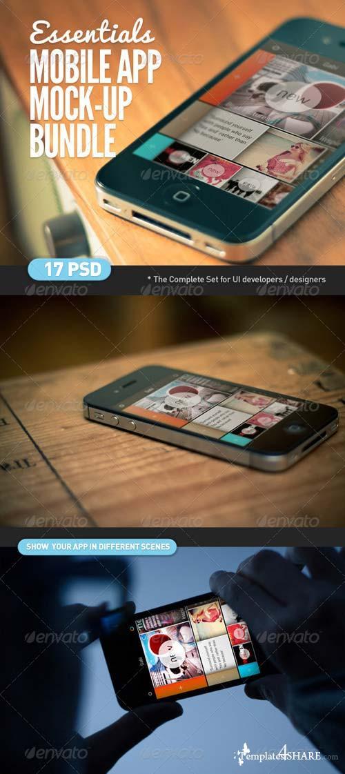 GraphicRiver Mobile App   Screen Mock-Up Essentials Bundle