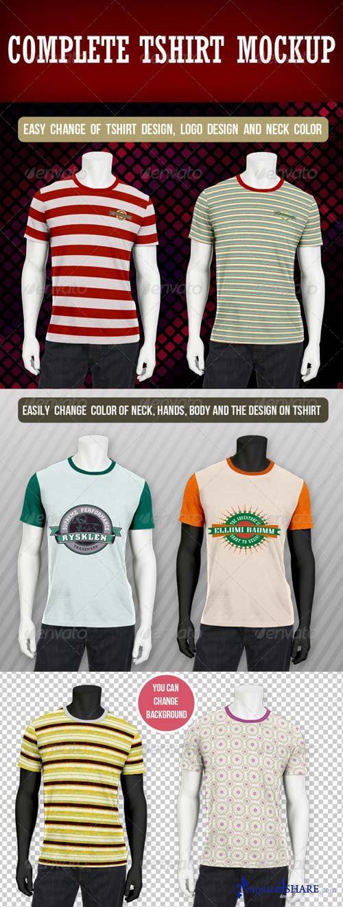GraphicRiver Complete T-shirt Mockup