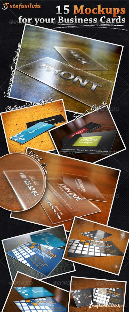 GraphicRiver 15 Realistic Business Card Mockups