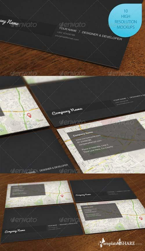 GraphicRiver 10 Photo Realistic Business Card Mockups