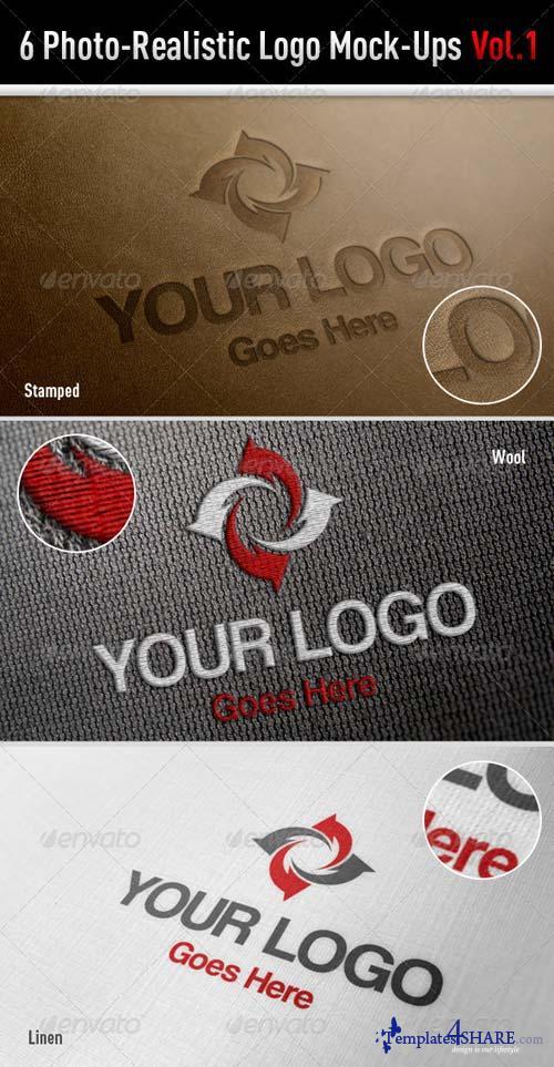 GraphicRiver 6 Photo-Realistic Logo Mock-Ups Vol.1
