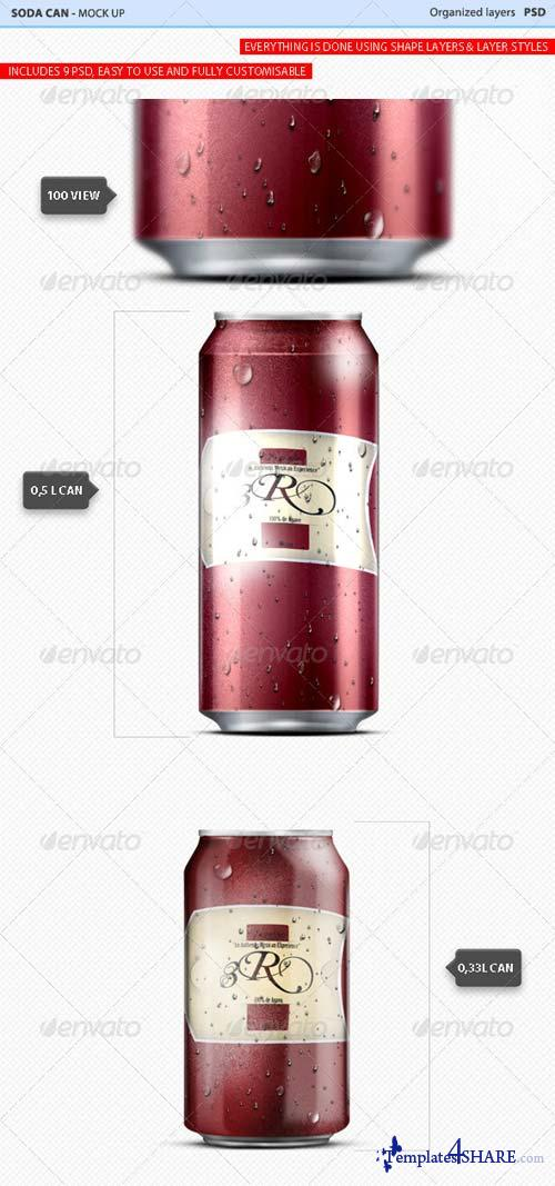 GraphicRiver Soda Can Mock Up #1