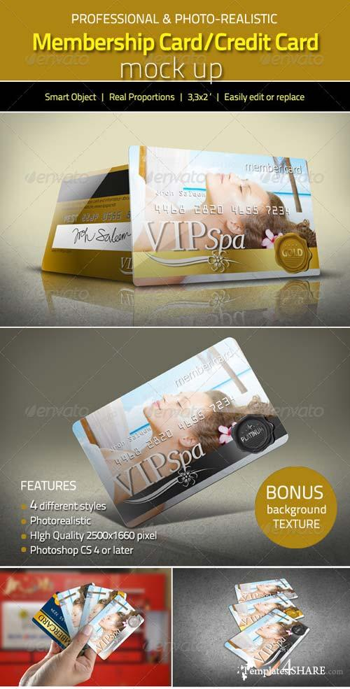 GraphicRiver Photorealistic Membership Card/Credit Card Mock Up