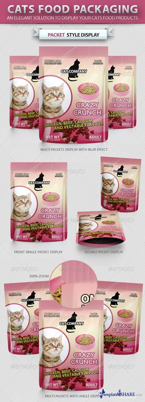GraphicRiver Cats Food Packaging Mock-up