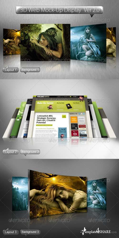 GraphicRiver 3D Web Mock-Up Display Ver 2.0
