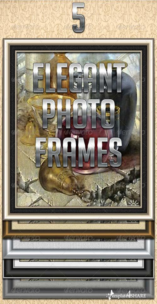 GraphicRiver 5 Elegant Photo Frames
