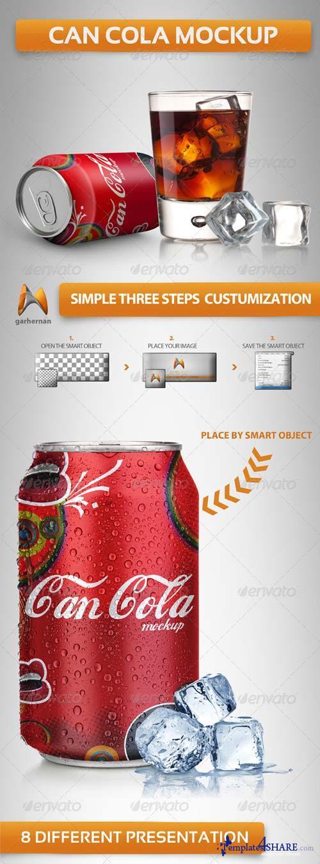 GraphicRiver Can Soda Mockup