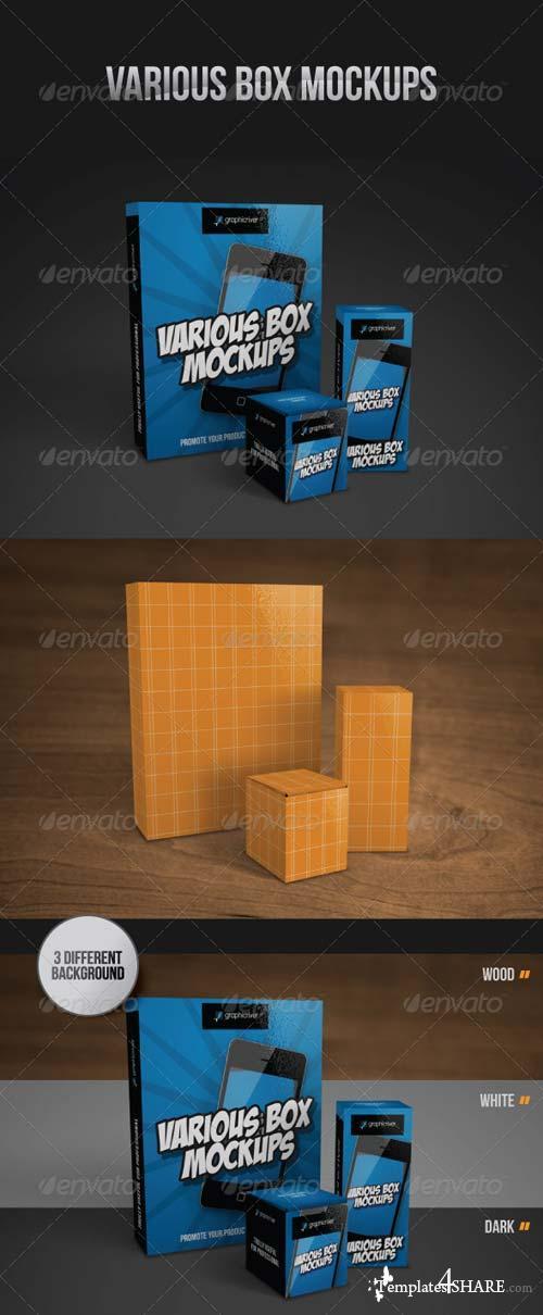GraphicRiver Various Box Mockups