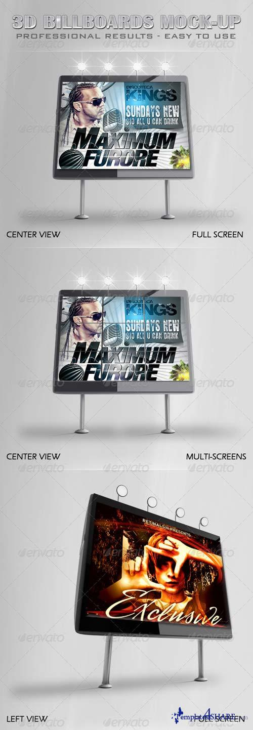 GraphicRiver Professional 3D Billboards Mock-up