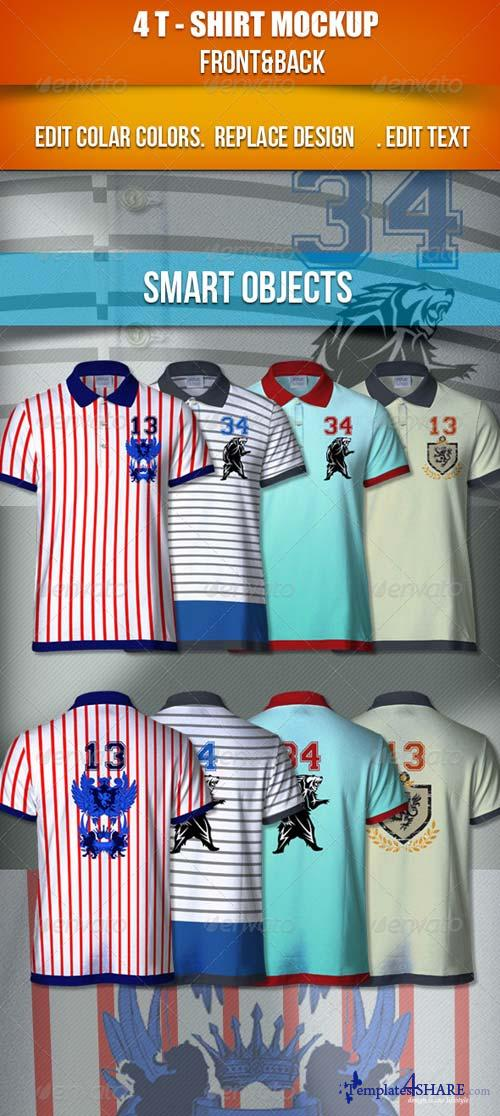 GraphicRiver 4T-Shirt Mockup | Front & Back