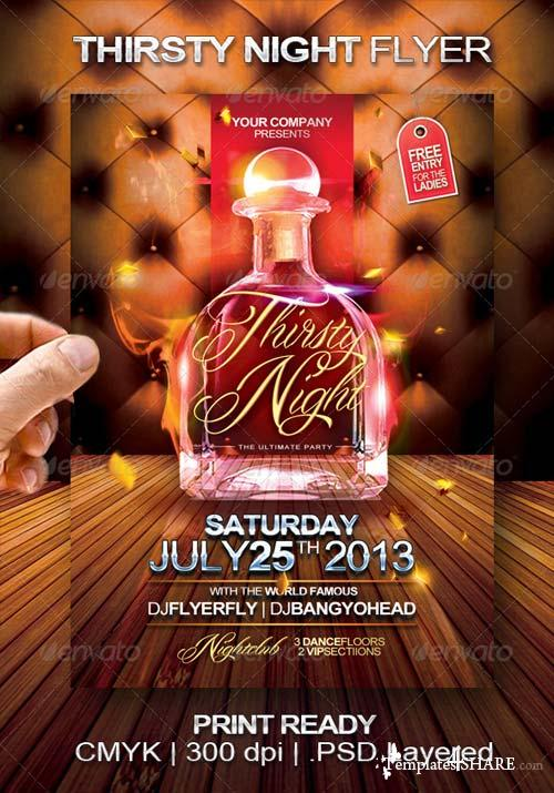 GraphicRiver Thirsty Night Flyer