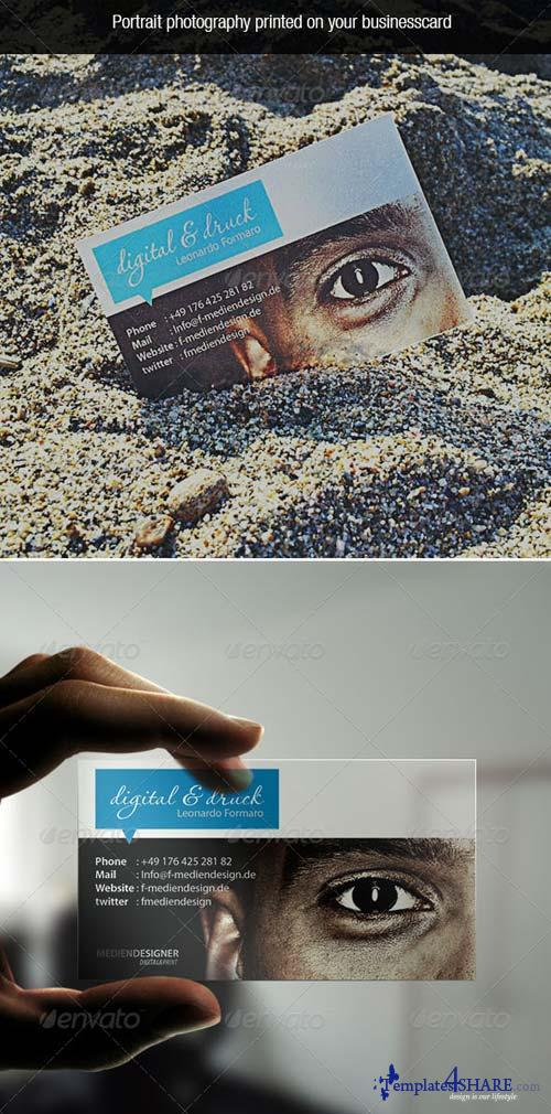 GraphicRiver Transparent Photo Business Card