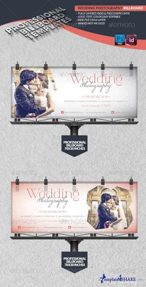 GraphicRiver Wedding Photography Billboard Template