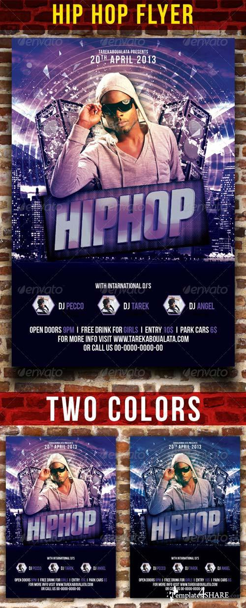 GraphicRiver HipHop Party Flyer