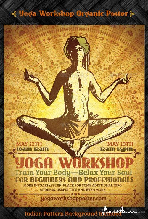 GraphicRiver Yoga Workshop Organic Poster Template