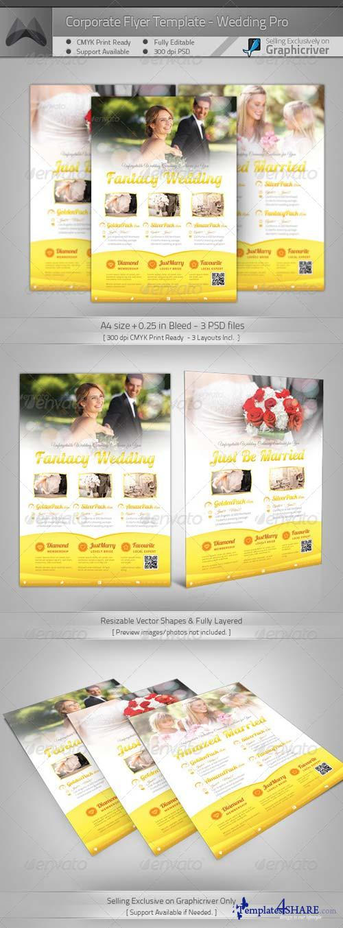 GraphicRiver Corporate Flyer - Wedding Pro