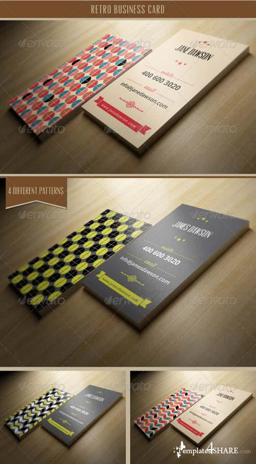 GraphicRiver Retro Business Card