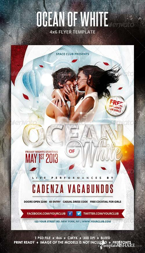 GraphicRiver Ocean of White Party Flyer