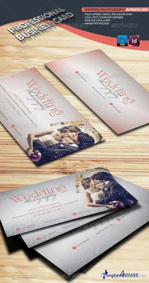 GraphicRiver Wedding Photography Business Card Template