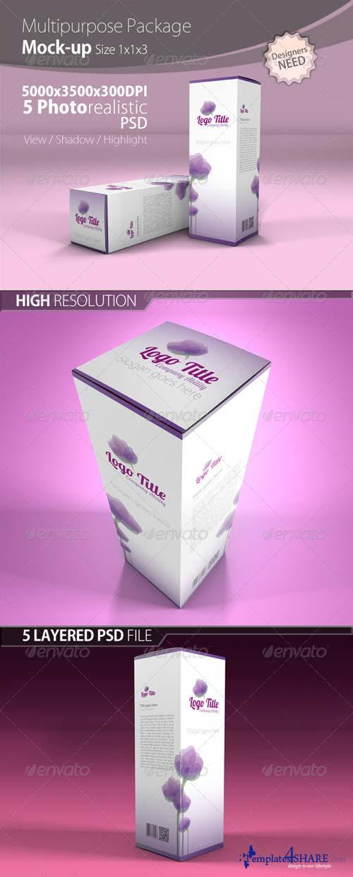 GraphicRiver Multipurpose Package - Mock up 1x1x3