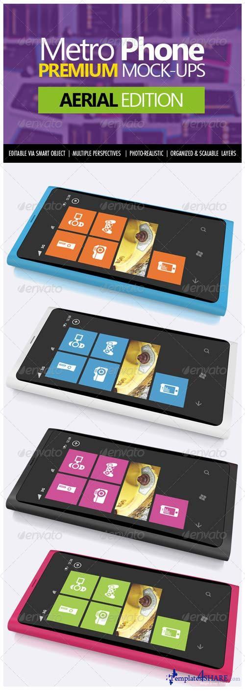 GraphicRiver Metro Phone Premium Mock-ups - Aerial Edition
