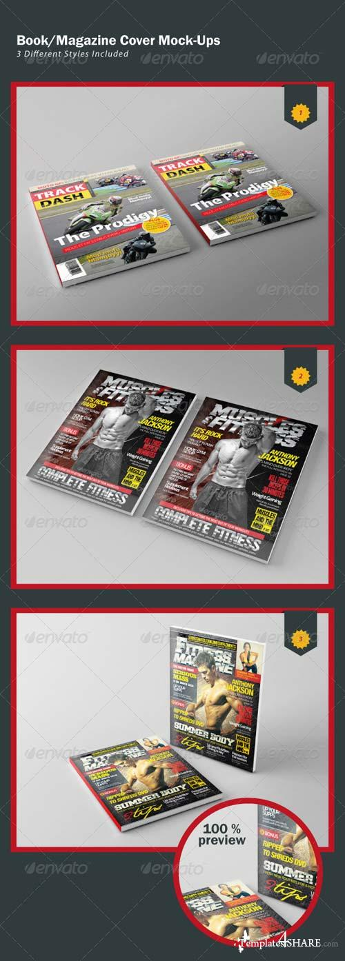 GraphicRiver Book/Magazine Cover Mock-Ups