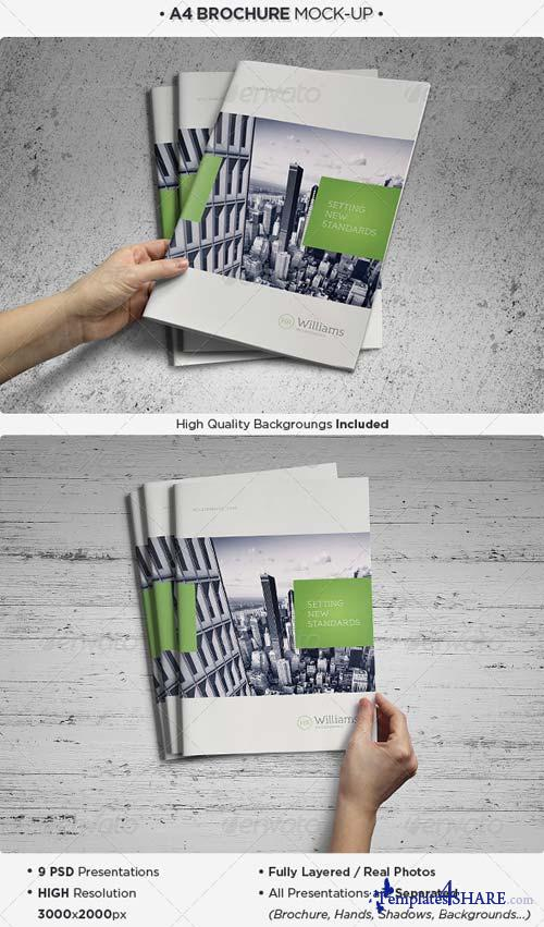 GraphicRiver A4 Brochure / Catalog Mock-Up