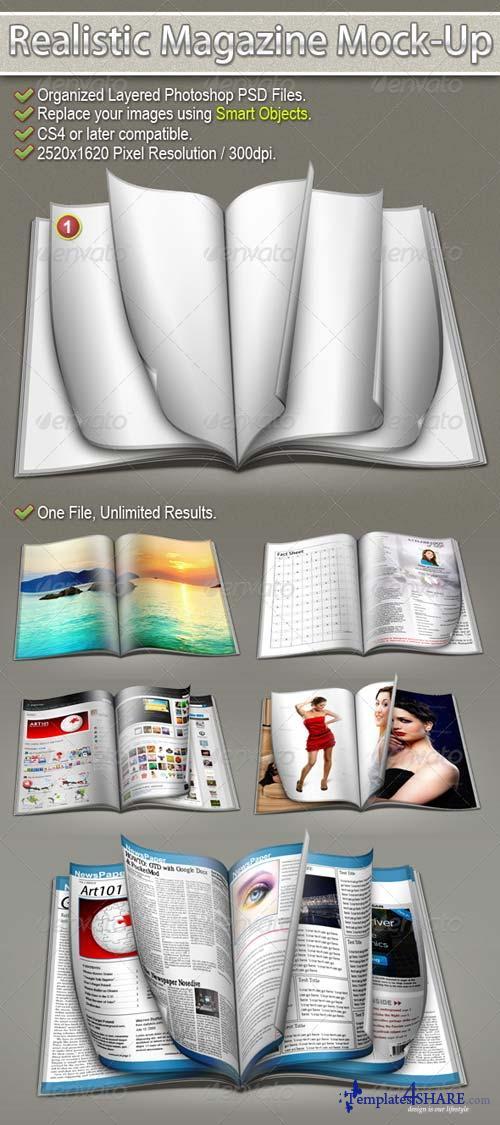 GraphicRiver Realistic Magazine Mock-Up