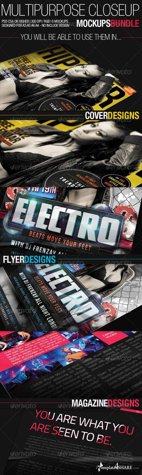 GraphicRiver Multipurpose Closeup Mockups Bundle