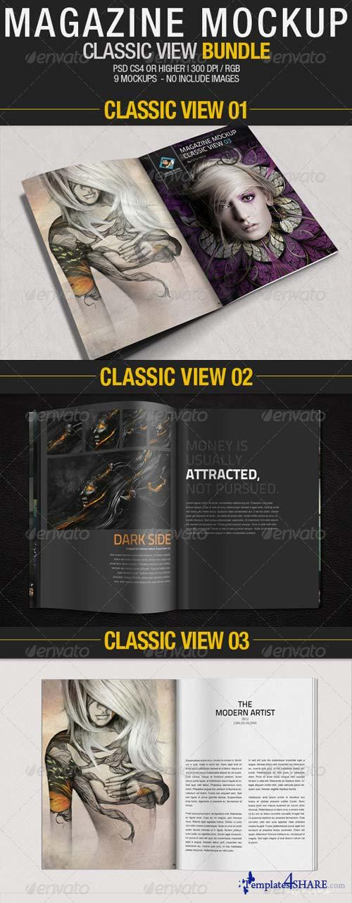 GraphicRiver Magazine Mockup Classic View - Bundle