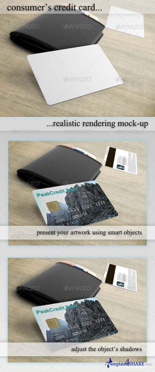 GraphicRiver Credit/Debit/Bonus Card Mockup