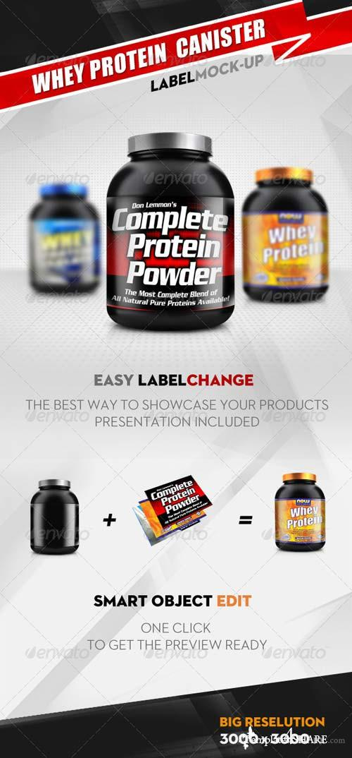 GraphicRiver Whey Protein Canister Mock Up