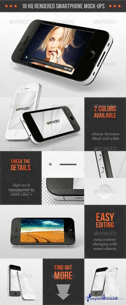 GraphicRiver Smartphone Mock-ups Mega Pack