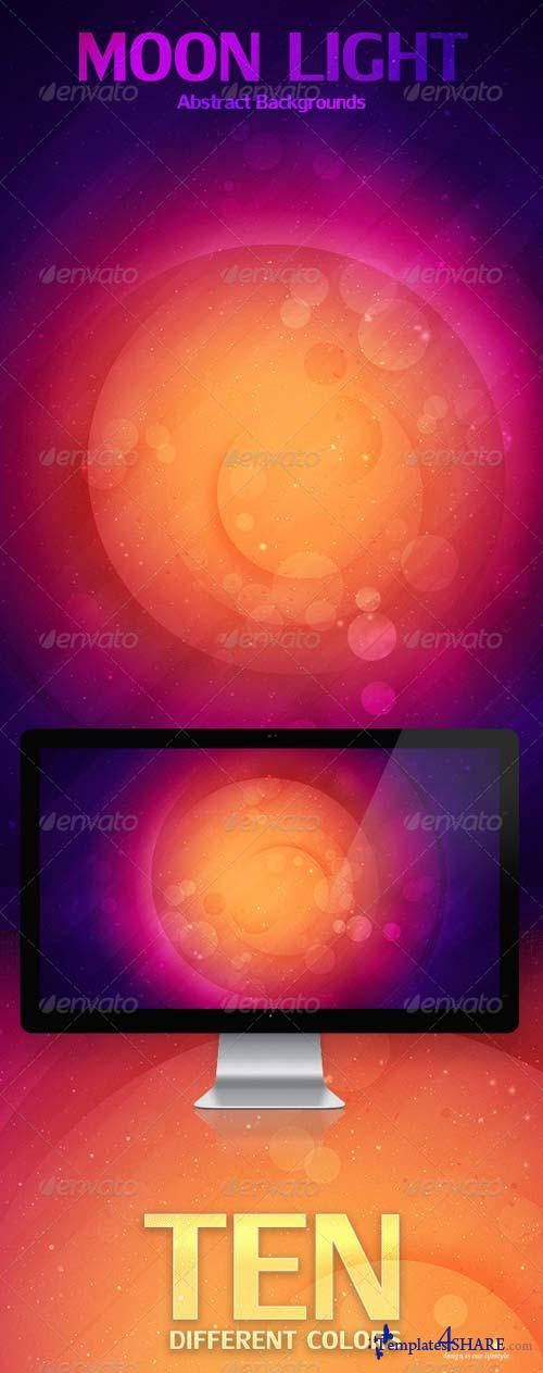GraphicRiver Moon Light Abstract Backgrounds