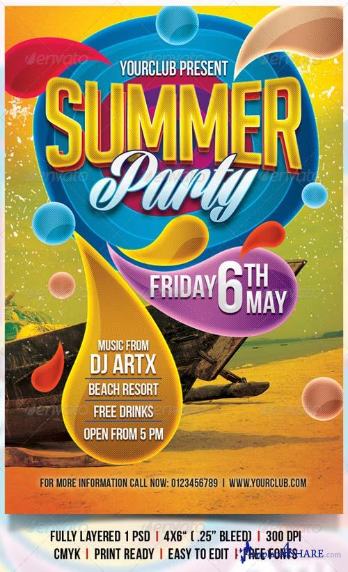 GraphicRiver Summer Party Flyer 4310180