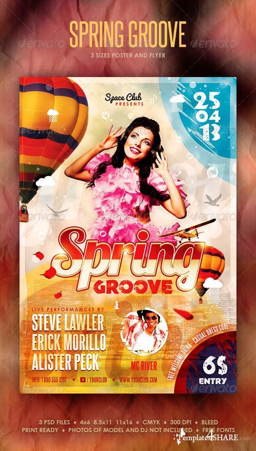 GraphicRiver Spring Groove Poster and Flyer