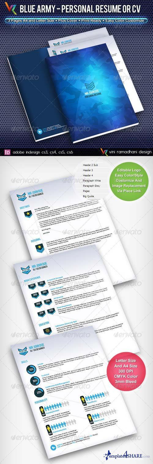 GraphicRiver Blue Army Resume Or CV