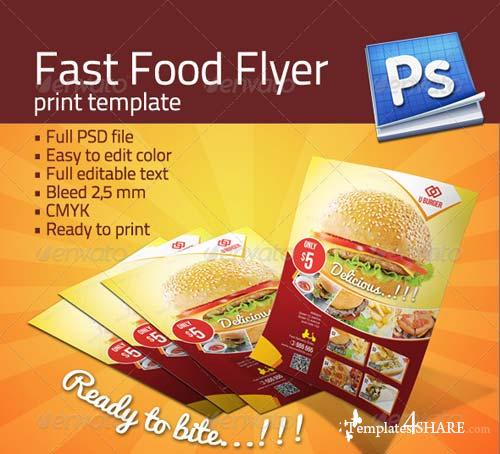 GraphicRiver Fast Food Flyer