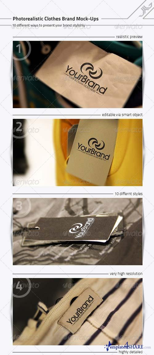 GraphicRiver Photorealistic Clothes Brand Mock-Ups