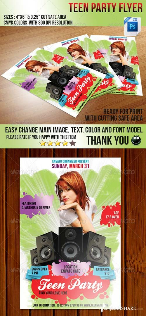 GraphicRiver Teen Love Flyer