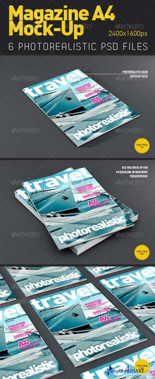 GraphicRiver Magazine - Brochure A4 Mock-Up