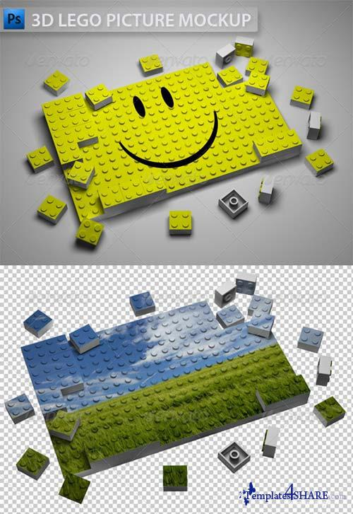 GraphicRiver 3D Lego Picture