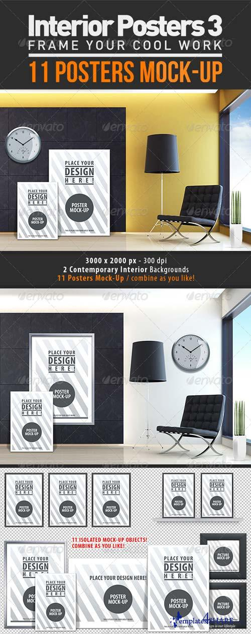 GraphicRiver Interior Posters Mock-Up Vol. 3